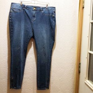 G.I.L.I. Jeans with Zippered Ankle
